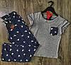 Пижама playboy, пижамный комплект штаны и футболка