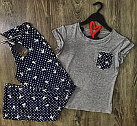 Піжама playboy, піжамний комплект штани і футболка
