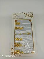 Декор для ногтей металлические фигурки золото