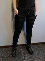 Спортивные штаны женские черные однотонные Размер 42, 46, 48