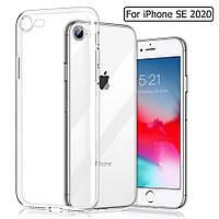 Прозрачный силиконовый чехол для iPhone SE 2020