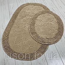 Набор хлопковых ковриков для ванной Zеrya коричневый круг