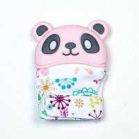 Рукавиця-гризунок SLINGOPARK «Панда» (рожевий з квітами)
