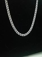 Цепочка серебряная 925 пробы покрытая чернью  Московский бисмарк .