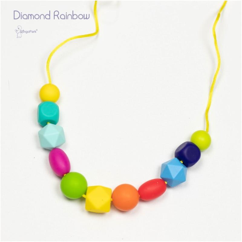 Силиконовые слингобусы BABY MILK TEETH Diamond Rainbow