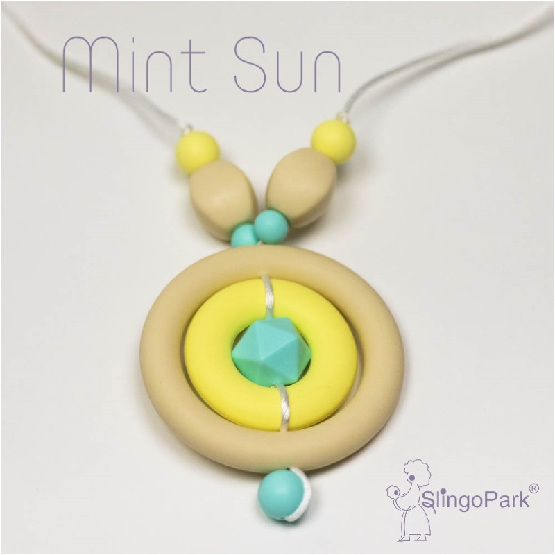 Силиконовые слингобусы BABY MILK TEETH Mint Sun