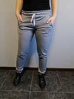 Спортивные штаны женские серые однотонные Размер 42