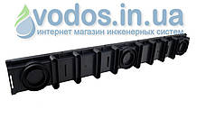 Лоток дренажний ДРІБНИЙ 63 мм з гратами сталевої оцинкованої А15 (1.5 тони) і кріпленням 01714, фото 3