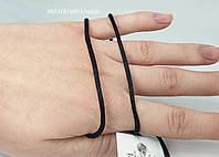 Шелковые шнурки на шею с серебряной застежкой