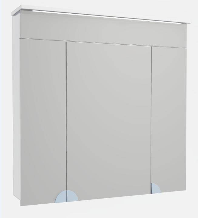 Зеркальный шкафчик в ванную Atmc-80 LED Allet ВанЛанд