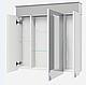 Зеркальный шкафчик в ванную Atmc-80 LED Allet ВанЛанд, фото 2