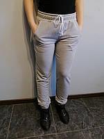 Спортивные штаны женские серые однотонные Размер 44
