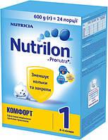 Сухая детская молочная смесь Nutrilon Комфорт 1, 600 г.