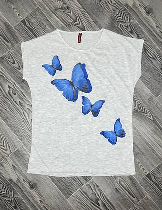 Женская серая футболка большой размер, фото 2