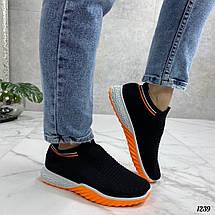 Черные кроссовки с разноцветной подошвой, фото 3