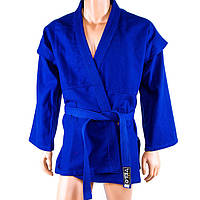 Самбовка Velo, куртка+шорты(эластан), синий, рост 150-170см 150