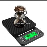 Ваги цифрові для приготування кави MS-K07 (3кг/0,1, вологостійкі, гумовий килимок)