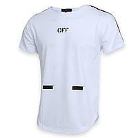 Футболка белый OFF-WHITE №1, лента Ф-11 WHT L(Р) 18-616-021-002