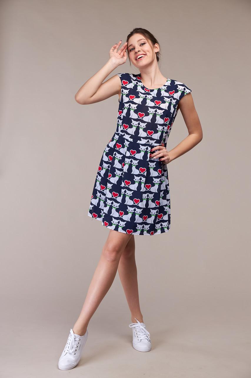 Изящное летнее платье, размер от 42 до 48