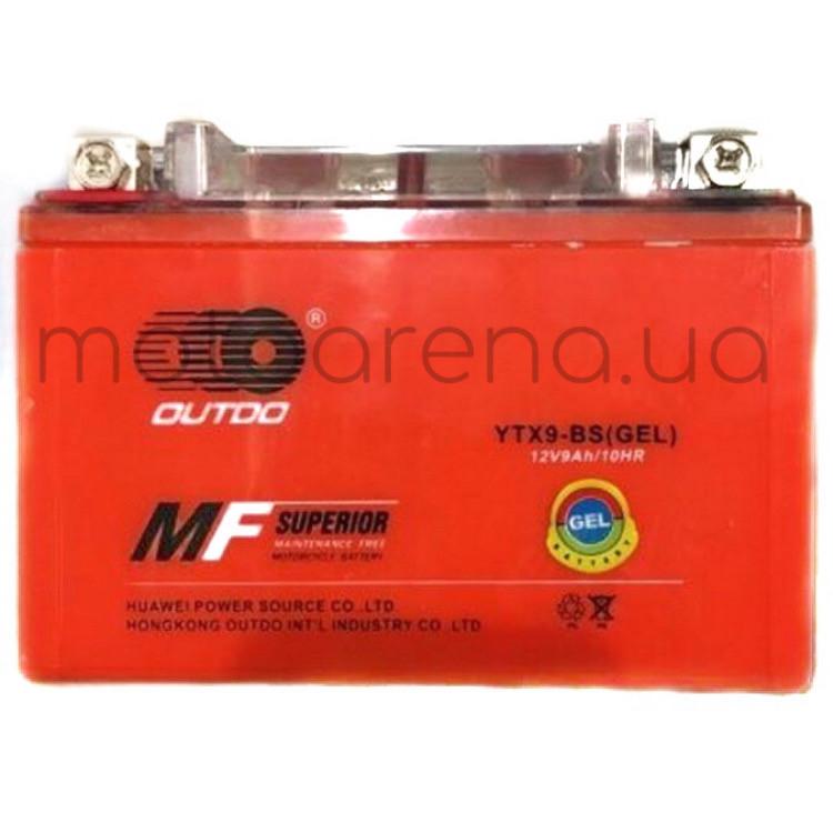 АКБ YTX9A-BS гелевый (оранжевый) 106-86-150 mm OUTDO