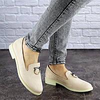 Туфли женские бежевые Muffin 1871 Размер 40 - 25 см по стельке, обувь женская