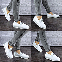 Туфли женские кожаные белые Hayden 1894 Размер 38 - 24,5 см по стельке, обувь женская