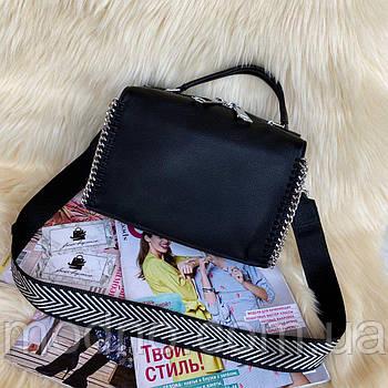 Жіноча шкіряна сумка бочонок з двома ремінцями Polina & Eiterou