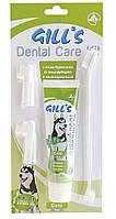 Зубная паста GILL'S мята + 3 щетки в наборе, 100 г