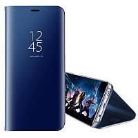 Зеркальный чехол-книжка для Samsung Galaxy S6 голубой