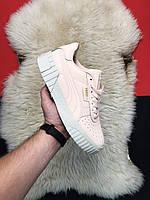 Мужские кроссовки Puma Cali Beige, Женские Пума Кали Розовые пудра мужские кроссовки кожаные