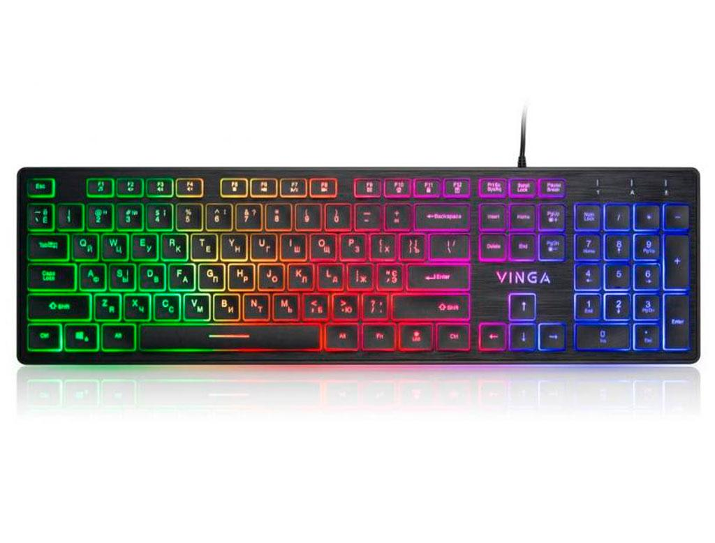 Клавіатура Vinga KB410 black