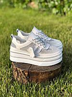 Женские кожаные кроссовки (Размеры в наличии 36,37,38,39,40,41), фото 1