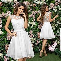 Женское нежное романтичное однотонное коктейльное платье. 4 цвета!