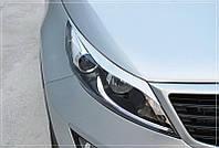 Накладки на фары Kia Sportage 3 (2010-2016), Реснички Киа Спортейдж, фото 1