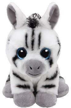 """Детская плюшевая игрушка мягкая Белая зебра """"Stripes"""" TY Beanie Babies, 15 см"""