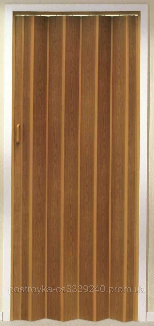 Двери гармошка Дуб Рустик Folding  межкомнатные, глухие, складные, раздвижные, пластиковые, скрытые
