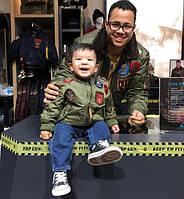 Детская MA-1 Top Gun и мужская B-15 Top Gun, оливковые