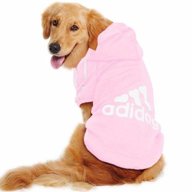 Толстовка для собак «Adidog», розовый, джемпер, кофта для собак, одежда для собак
