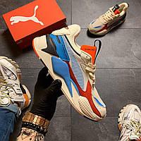 🔥 ВИДЕО ОБЗОР 🔥Puma Rs-x Reinvention Cream Red Blue 🔥 Пума Мужские кроссовки 🔥