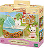 Sylvanian families 5432 Шоколодные кролики Двойняшки в коляске  Epoch, фото 2