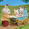Sylvanian families 5432 Шоколодные кролики Двойняшки в коляске  Epoch, фото 4
