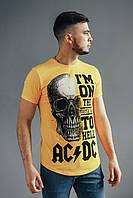 Футболка мужская AC ϟ DC yellow летняя / ЛЮКС качества, фото 1