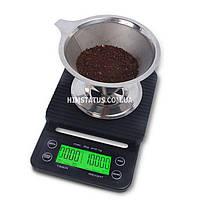 Ваги цифрові для приготування кави MS-K07 (5кг/0,1, вологостійкі, гумовий килимок)
