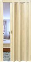 Двери гармошка Клен Folding  межкомнатные, глухие, складные, раздвижные, пластиковые, скрытые