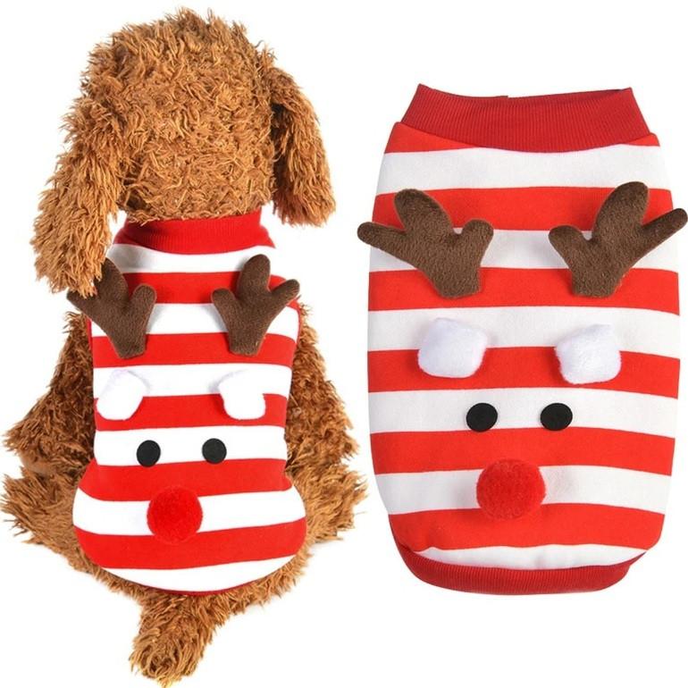 Толстовка для собак «Новогодний Олень», кофта, джемпер праздничная новогодняя одежда для собак
