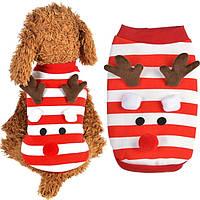Толстовка для собак «Новогодний Олень», кофта, джемпер праздничная новогодняя одежда для собак, фото 1