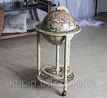 Глобус бар на 3х ножках белый слоновая кость 44.3*44.3*88 см Гранд Презент 33001W