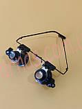 Бинокуляр очки бинокулярные со светодиодной подсветкой 9892A-II, фото 2