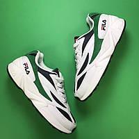 🔥 Fila Venom White Green Кроссовки Фила 🔥 Фила женские кроссовки 🔥