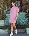 Платье-футболка женское розовое бренд ТУР модель Сарина (Sarina) размер  S, M, L, фото 3